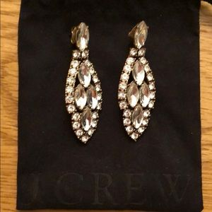 J.crew vintage crystal custom earrings